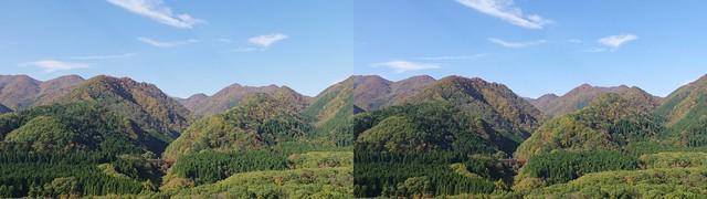 Oku-Nikkawa, stereo cross view