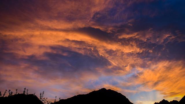 Ciel ardent en Vallouise