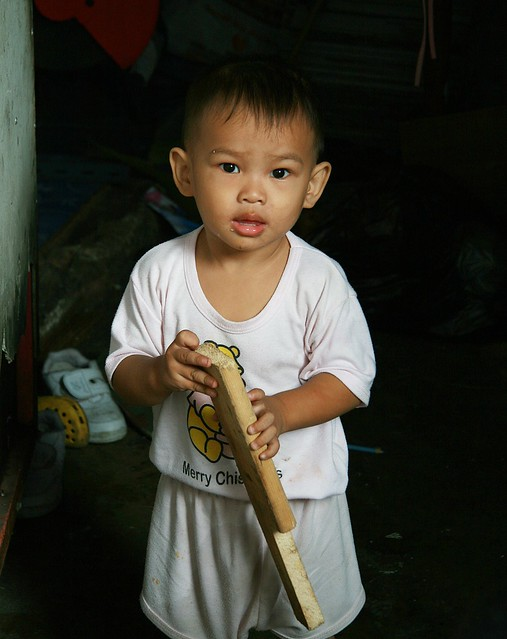 boy with a board