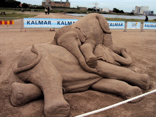 The sand sculptures were quite incredible. by bryandkeith on flickr