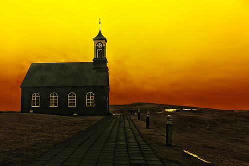 hvalsneskirkja sandgerdi church reykjanespeninsula iceland
