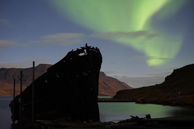Ship and aurora
