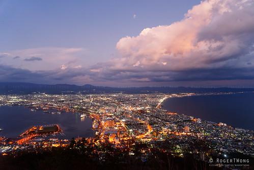 2017 hakodate hokkaido japan mthakodate rogertwong city holiday lights night town travel