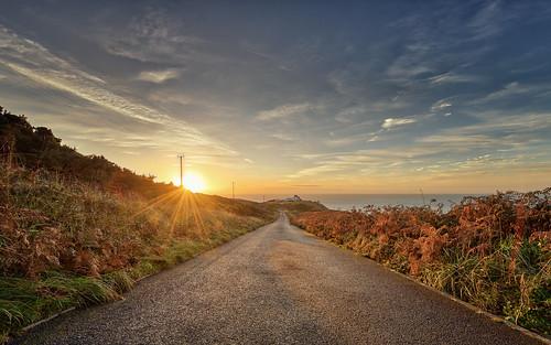 path sunrise sunbeams bailylighthouse ireland dublin mood outdoor lighthouse light seascape seaside countydublin irland ie