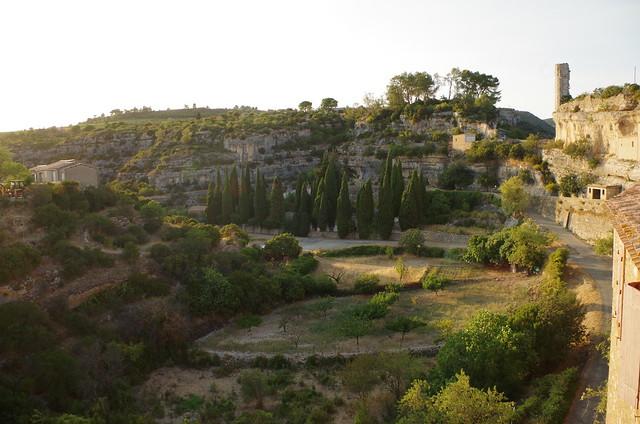 paysage de causse à Minerve, et la Candela