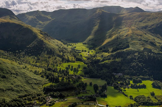 Looking down into Grisedale Valley