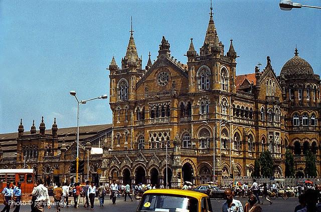 Chhatrapati Shivaji Terminus Railway Station-Mumbai-India