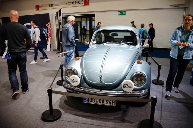 Weltmeister 1972 Volkswagen Käfer (Beetle) auf der Ausstellung