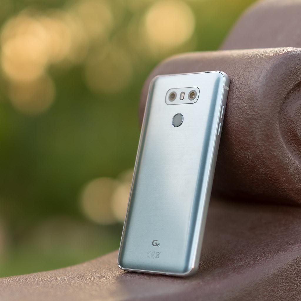 LG G6 H870 Ice Platinum | twin rear cams, flash & fingerpr… | Flickr