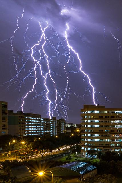 Lightning in the neighbourhood