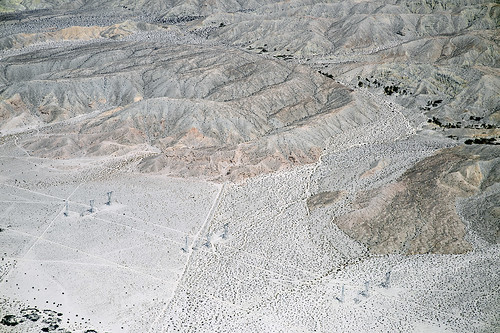 aerialphotograph nature geology geomorphology sanandreasfaultzone indiohills riversidecounty california graniterockquarry coachellavalley coloradodesert missioncreekstrand missioncreekfault banningstrand banningfault fault