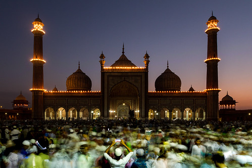 mughal architecture mosque dusk sunset ramadan jama masjid delhi longexposure canon