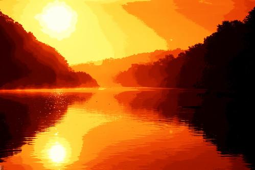 treeline sunrise reflection art londonontario ontario canada sun darrellcolby