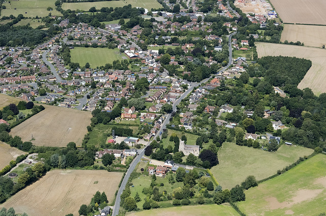 Holbrook in Suffolk - aerial