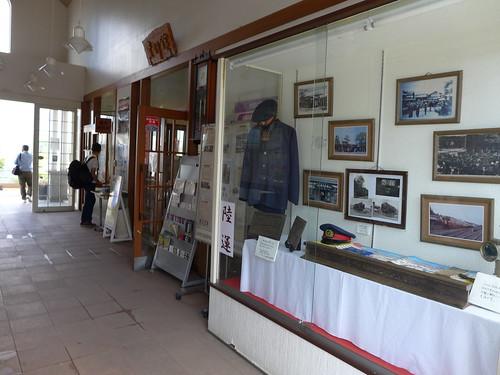 荒砥駅には資料館が設けられ、いつも様々な展示が行われている