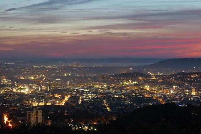 Sonnenaufgang über Stuttgart