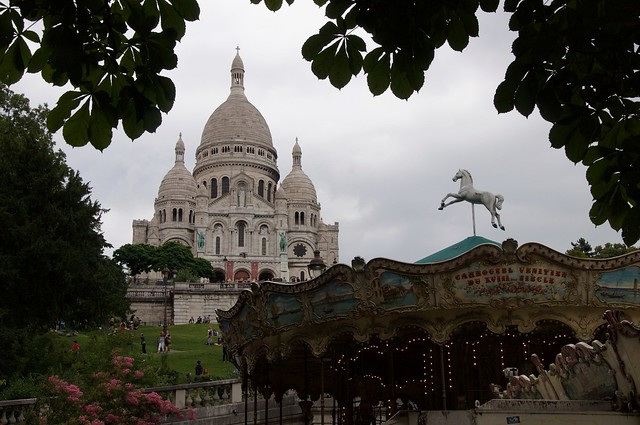 Sacré Cœur and carousel