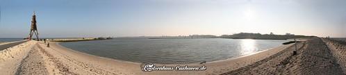 Cuxhaven Panorama Kugelbake und Bauhafen   by Stilkollektiv