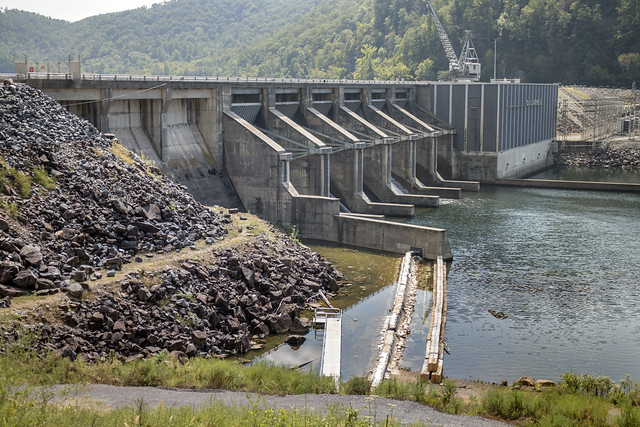 Chilhowee Dam, Little Tennessee River, Blount County, Monroe County, Tennessee