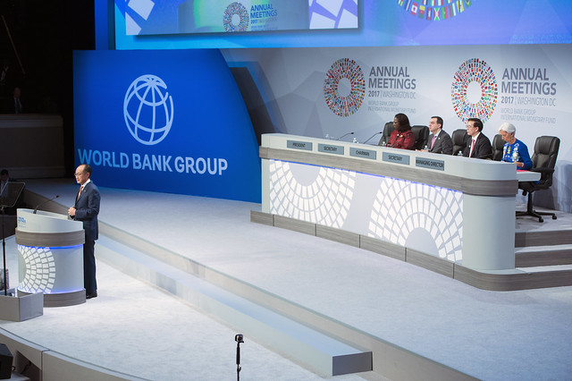 Fri, 10/13/2017 - 09:41 - October 13, 2017 - WASHINGTON, DC. World Bank / IMF 2017 Annual Meetings. Annual Meetings Plenary.  Watch Event.   Imad Najib Ayed Fakhoury, Chairman Of The Annual Meetings, Minister Of Planning And International Cooperation For Jordan Jim Yong Kim, President, The World Bank Group Christine Lagarde, Managing Director, IMF.  Photo: World Bank / Grant Ellis  Photo ID: 101317-DAR-288_F