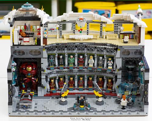 Lego Iron Man Malibu Mansion MOC (Hall of armor)