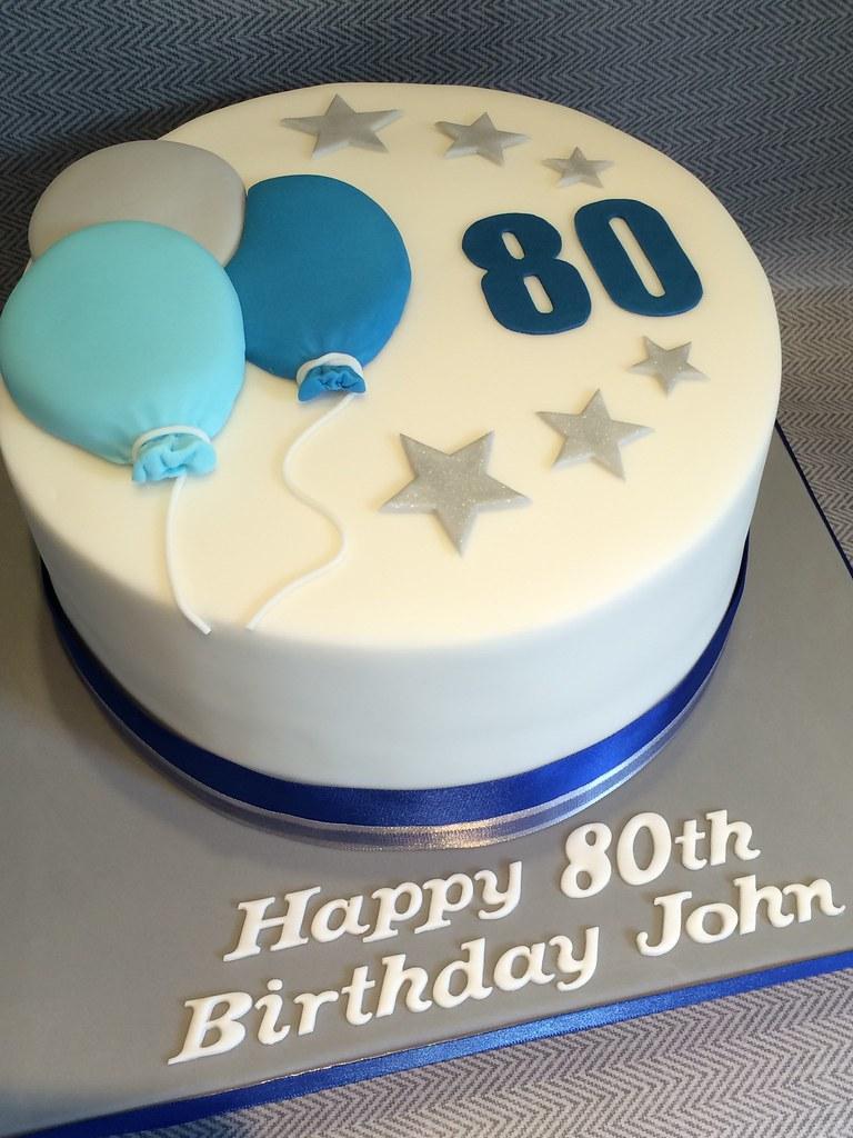 By Dotty Cupcakes Mens 80th Birthday Celebration Cake