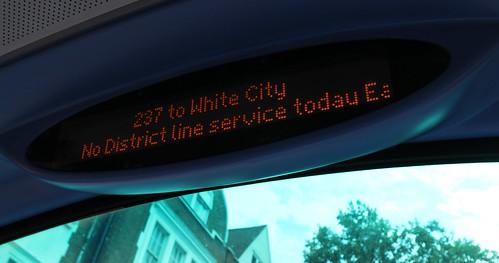 London bus alert for Underground