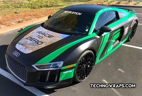 Audi R8 vinyl car wrap in Orlando by TechnoWraps.com