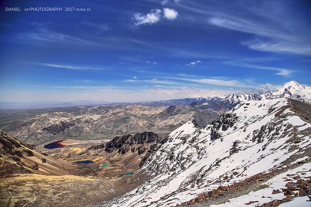 Cuenca Milluni desde Chacaltaya