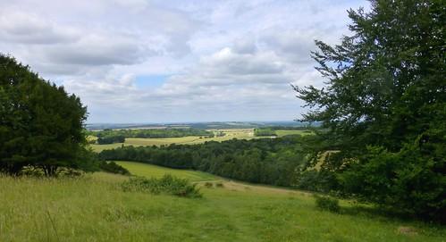 hampshire england farleymount winchester downland ridge