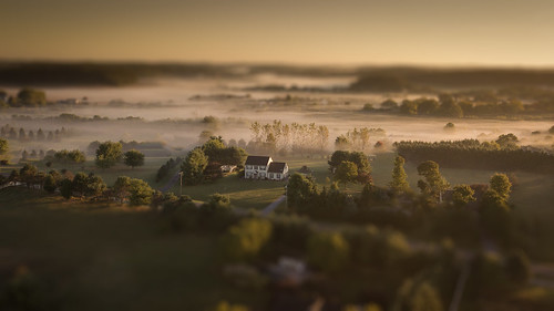 mountairy maryland unitedstates us drone dji mavicpro mavic sunrise fog landscape aerial autumn fall