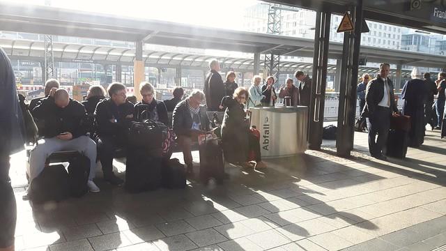 Morning light. Frankfurt station