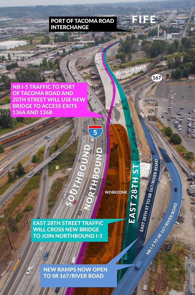 NB I-5 Port of Tacoma Road traffic shift Fall 2017   Flickr