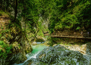 Walking in Vintgar Gorge | by wuestenigel