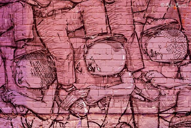 Roma. Street art by Blu. Wip