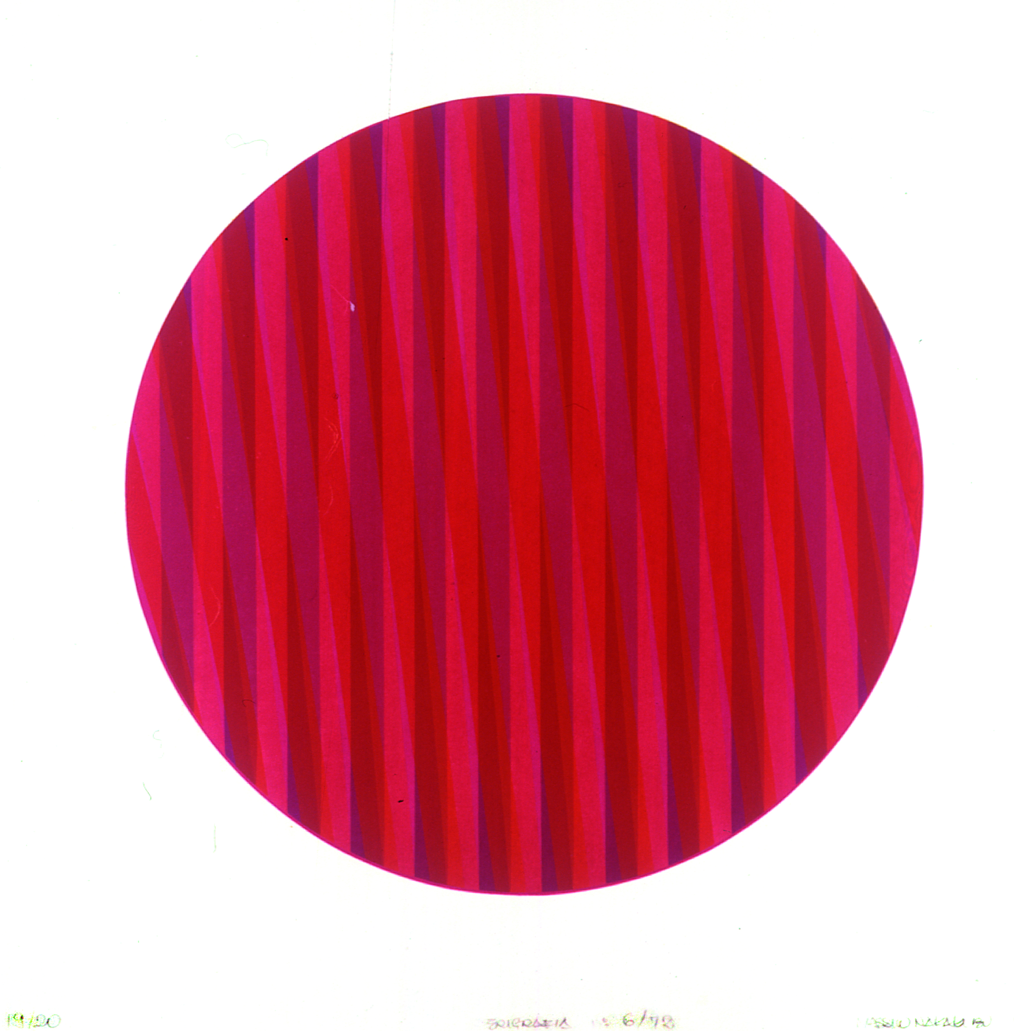 Composição Circular número 6/72 Autor: Massuo Nakakubo Ano: 1972  Técnica: Serigrafia  Dimensões: 50cm x 50cm