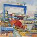 The Royal Dockyard,Gouache on paper, 68x51cm