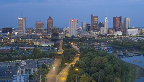 panorama columbus cityscape inspire1pro drone longexposure hdr