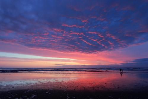seaside beach sunset oregon or april 2017 landscape pacific ocean