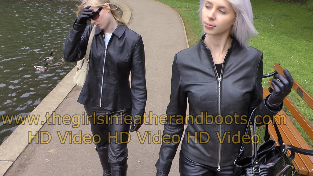 good service new lifestyle hot products Girls in leather pants with leather jacket leather boots a ...