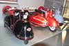 1952 Glas Goggo 150, 1953 Goggo 200 mit Royal-Seitenwagen, 1954 Goggo 200