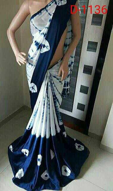 Satin silk mosh print fancy party wear saree   Buy Online Satin Silk Sarees   CityFashions