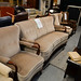 3 +1+1 mahogany light brown fabric bay suite E455 the set