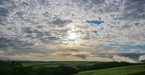 andygocher canon100d sigma18250 uk wales southwales westwales pembrokeshire countryside landscape clouds cloudscape bluesky sunrise