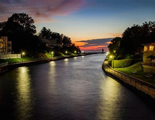 river lake sun sunset sundown skyline pier lighthouse long exposure night dusk color cloud lamp posts clouds canon tamron serene evenoing evening low light reflections walk side walkway