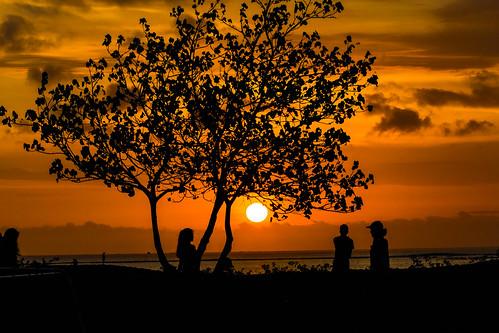 kuta bali indonesien sunset