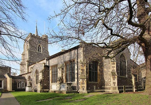 churchyard bomb & treasures  - Watford Hertfordshire