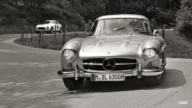 Mercedes-Benz 300 SL 1955 Wallner (c) 2017 Бернхард Эггер :: ru-moto images 2990 sepia