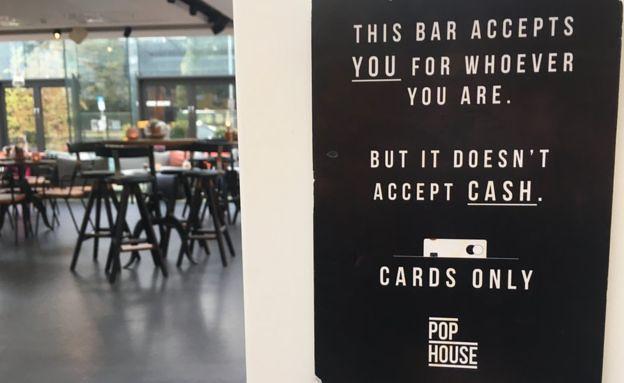 Bar doesn't accept cash