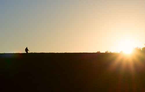 sunrise massachusetts field man walking silhouette sun flare sky horizon chancyrendezvous davelawler blurgasm lawler